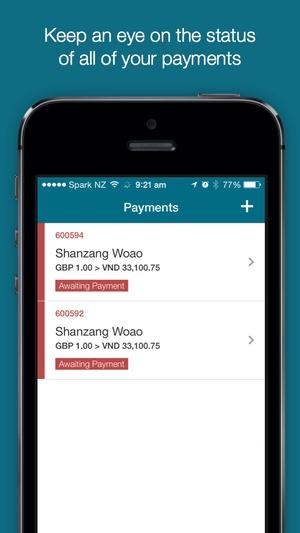 Screenshot OrbitRemit on iPhone