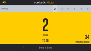 Screenshot Runtastic Sit Ups PRO on iPhone