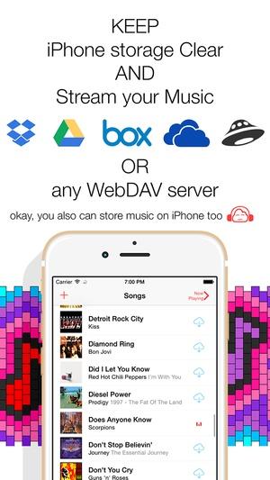 Screenshot Eddy Cloud Music Pro on iPhone