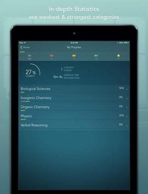 Screenshot MCAT 2015 Mastery on iPad