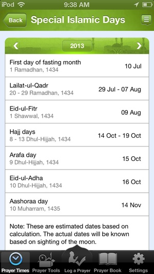 Screenshot Athan on iPhone
