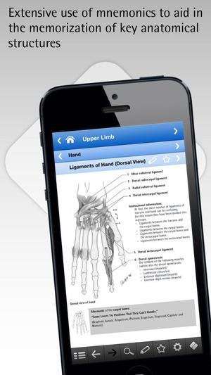 Screenshot Anatomy pocket on iPhone