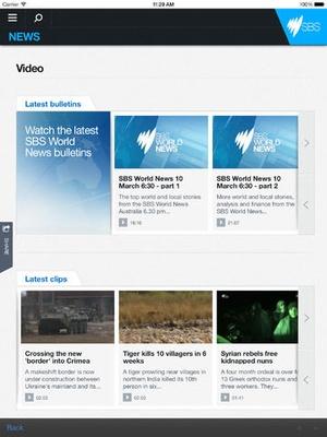 Screenshot SBS World News on iPad