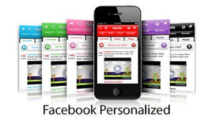 Screenshot Facely HD for Facebook + Chat & Photos on iPhone