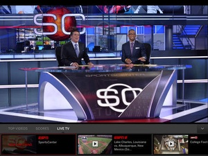 Screenshot WatchESPN on iPad