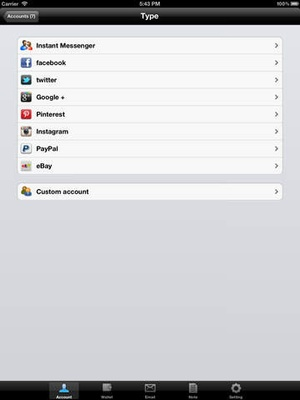 Screenshot Password Secure Manager Lite Free on iPad