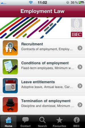 Screenshot Employment Law on iPhone