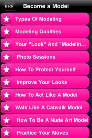 Screenshot Become a Model on iPhone