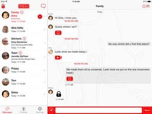 Screenshot Wickr on iPad