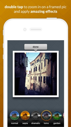 Screenshot Frametastic on iPhone