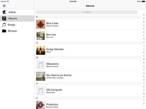Screenshot Tunebox on iPad