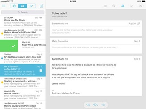 Screenshot Mailbox on iPad