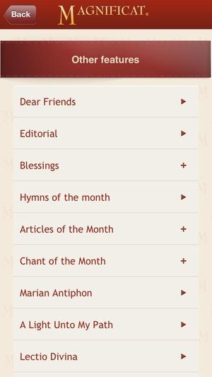 Screenshot Magnificat (US edition) on iPhone