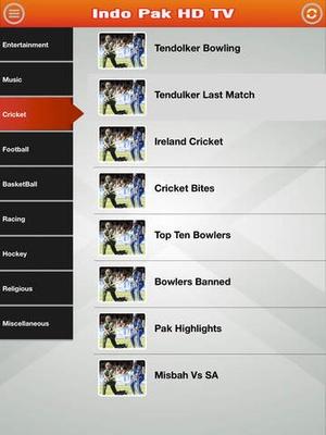 Screenshot Indo Pak HD TV on iPad