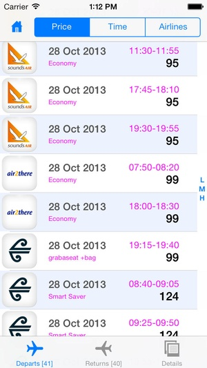 Screenshot New Zealand Flight Free on iPhone