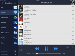 Screenshot CloudBeats on iPad