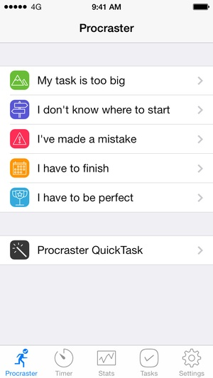 Screenshot Procraster on iPhone