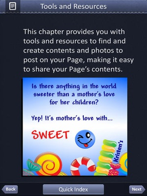Screenshot Guide Book for Facebook Marketing on iPad