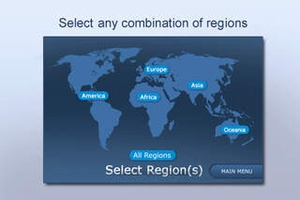 Screenshot World Countries Quiz on iPhone