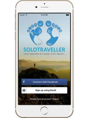 Screenshot SoloTraveller on iPad