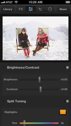 Screenshot Luminance on iPhone