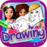 Drawing Desk Lego Friends