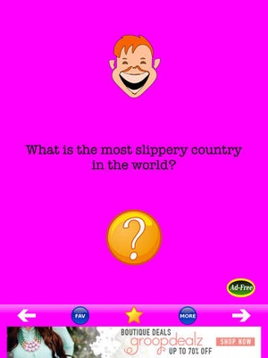 Screenshot Funny Jokes FREE! Best Blonde Jokes, Yo Mama Jokes, and Corny Jokes For Kids 500 on iPad