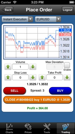 Screenshot Forex On The Go Premium on iPhone