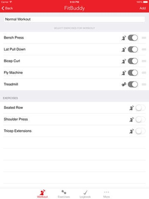 Screenshot FitBuddy Gym Tracker on iPad