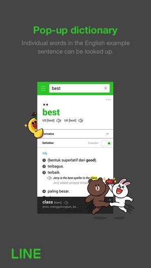 Screenshot LINE Dictionary : English on iPhone