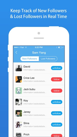 Screenshot TwitFollower for Twitter on iPhone