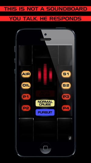 Screenshot Ask KITT and listen to his voice! The popular supercar from the 80s is back. From the famous TV Show, a talking marvel for your on iPhone