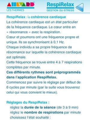 Screenshot RespiRelax on iPad