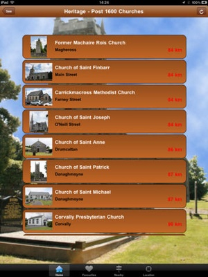 Screenshot Monaghan Tourism on iPad