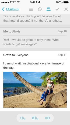 Screenshot Mailbox on iPhone