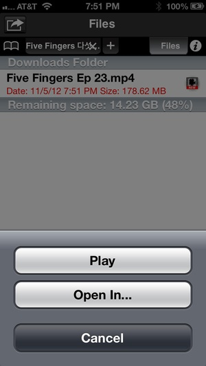 Screenshot Free Video Downloader on iPhone