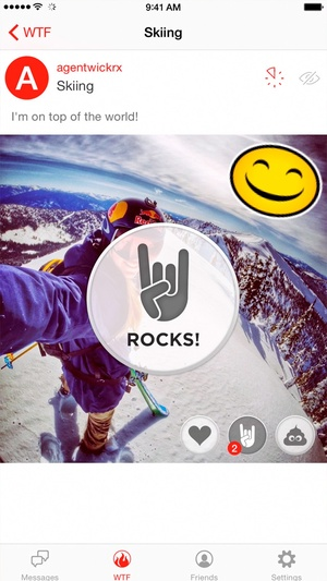 Screenshot Wickr on iPhone