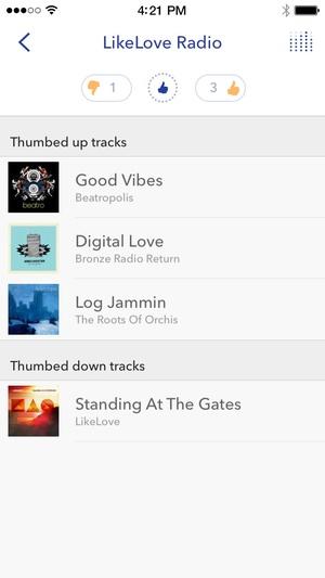 Screenshot Pandora Radio on iPhone