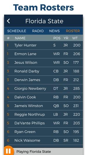 Screenshot College Football Radio & Live Scores! on iPhone