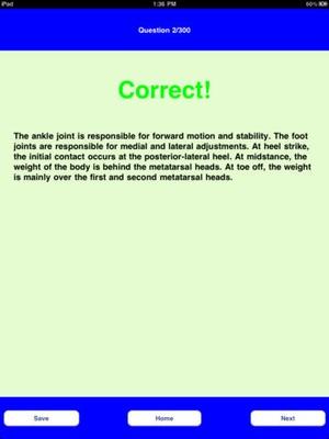 Screenshot NPTE Quiz on iPad
