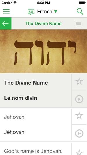 Screenshot JW Language on iPhone