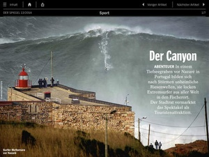 Screenshot DER SPIEGEL on iPad