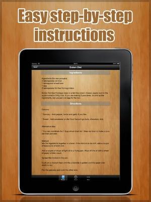 Screenshot Dukan Diet Pro on iPad