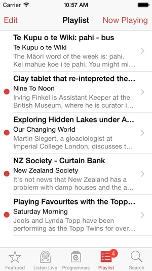 Screenshot Radio New Zealand on iPhone