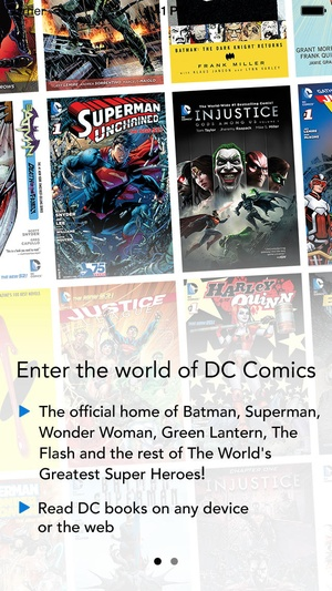 Screenshot DC Comics on iPhone