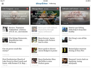 Screenshot Chicago Tribune on iPad