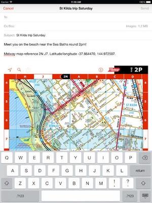 Screenshot iMelway Edition 40 on iPad
