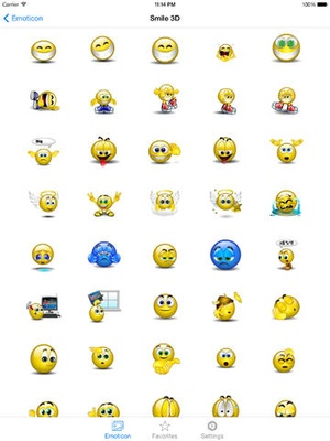 Screenshot 3D Animated Emoji PRO + Emoticons on iPad