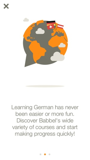 Screenshot Learn German with Babbel on iPhone