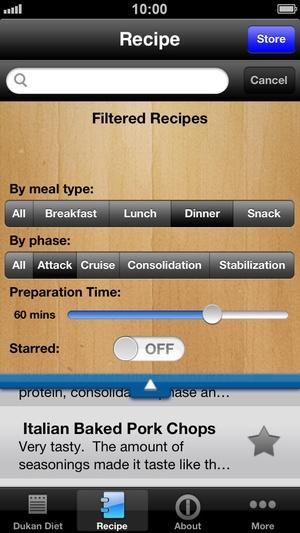 Screenshot Dukan Diet Pro on iPhone